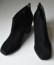 BERTIE PILOT Real Suede Black Ankle Boots 40 UK 6.5 - 7 Mint Condition With Box