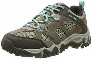 LADIES MERRELL LEATHER ROCKBIT GORE-TEX WALKING TRAIL HIKING CASUAL SHOES UK 4-9