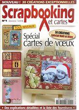 SCRAPBOOLING ET CARTES N°01 - SPECIAL CARTES DE VOEUX - 30 CREATIONS