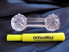 Imperial Glass (3) CRYSTAL HOBSTAR KNIFE RESTS  INVENTORY SALE ENDS 4/15