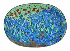 ART GIFTS Enamel Copper Hand Painted Small Soap Dish Plate Tray IRIS Van GOGH