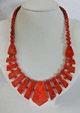 Jay King DTR Sterling Silver & Coral Necklace H642