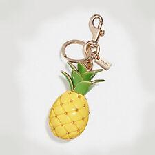 COACH NWT $90 Pineapple Key Ring Purse Bag Charm f27699