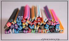 M2034)Lot De 50 Batons Cane Fimo Papillon Idéal Création