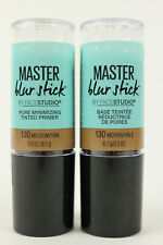 Maybelline Master Blur Stick Tinted Primer 130 Medium Tan Makeup Lot Of 2