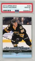 2014 Upper Deck Young Guns David Pastrnak ROOKIE RC #495 PSA 10 GEM MINT
