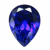 13x18mm Unheated 16.87ct Royal Blue Sapphire Pear Cut AAAA+ Loose Gemstone