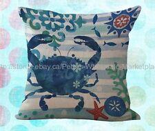 *US SELLER*decorative pillow case for crab decorative pillow case cushion cover