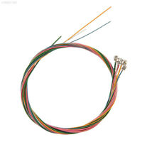6 Rainbow Colorful Color Multicolor Strings Set For Acoustic Guitar Sounds Great