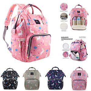 Diaper Bag Backpack Large Capacity Unicorn Baby Travel Bookbag