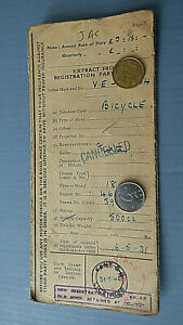 OLD BUFF LOGBOOK RF60 from a 1931 Norton Model 18 500cc motorcycle