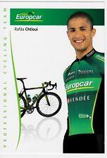 CYCLISME carte cycliste RAFAA CHTIOUI équipe EUROPCAR 2012