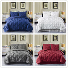 8 Piece Pintuck Comforter Set Pinch Pleat Bed in A Bag Q/K/Cal King