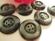 lot 6 gros boutons anciens gris marbré 3,1 cm année 50  ref 2692