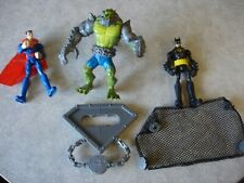 EUC Killer Croc Takedown Superman Batman action figure set Mattel 2013