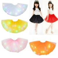 LED Magic Light Princess Dancing Skirts Luminous Tulle Fairy Costume For Girls