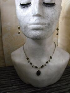 raw druzy LABRADORITE gemstone chips choker NECKLACE EARRINGS ethnic boho