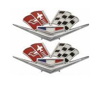 USA-Made! 1962-63 Impala, Corvette 327 & 409 Front Fender X-Flag w/o Studs