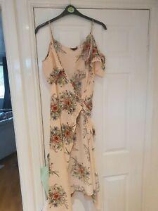Women's Topshop Floral Print Dress - 14 Maternity Wear
