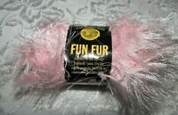 NWT Lion Brand Fun Fur Soft Pink Polyester Eyelash Yarn 50g Italy 320 101 10530