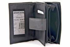 Mens Leather Coin Purse Wallet with ID Window RFID Safe Credit Card Wallets