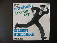 "SP GILBERT O'SULLIVAN ""Matrimony""  MAM – 84.021,  MAM 64-R  France (1971)"