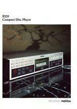 Studer Revox Prospekt 1984 4/84 D B225 Compact Disc Player brochure prospectus