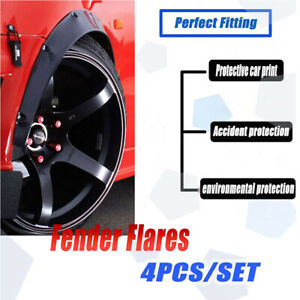 4Pcs Universal Flexible Car Fender Flares Extra Wide Wheel Arches Cover Body Kit
