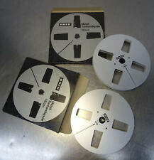 2 UHER Leer Spulen 18cm Aluminium ungebrauchte Tonbandspule in orign. Schachtel
