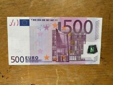 More details for 500 euro bank note 2002 - x series germany sign by trichet x 1 serial no x034