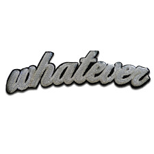 Toppe termoadesive - Whatever con paillettes Biker - bianco - 25x6,7cm - by catc