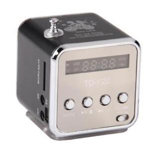 Portable Mini Speaker Music Player FM Radio MicroSD TF USB MP3 - Black