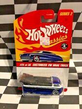 Hot Wheels Classics Series 2  #25 Customized VW Drag Truck Blue 5sp_ww