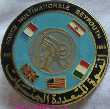 IN9356 - INSIGNE R.E.C. FORCE MULTINATIONALE BEYROUTH 1982-1983