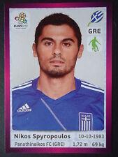 PANINI 91 Nikos Spyropoulos Grecia euro 2012 Poland-Ucraina