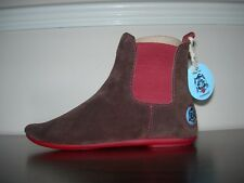 PUNKAWALA OLDER GIRL'S ANKLE CHELSEA BOOTS BROWN SUEDE EU 34- 35 / UK 1.5- 2.5