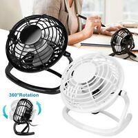 USB Fan Mini Portable Desktop Cooling Desk Quiet Fan Office Computer Laptop US