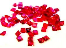 NATURAL PRINCESS-CUT RED RUBY GEMSTONES LOOSE 5pcs - 1.6 x 1.6 mm TANZANIAN RUBY