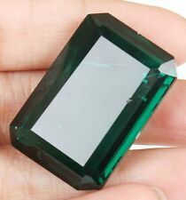 Brazilian 166.30 Ct. / 39 mm Green Amethyst Emerald Shape Loose Gemstone J-5071