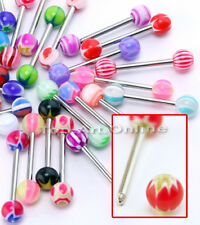 30 X Tongue Rings Piercing Body Jewelry Tounge Bars Fashion to0e