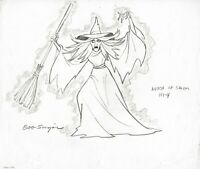 SCOOBY DOO 1978 Production Character Design Drawing of the Witch Hanna Barbera