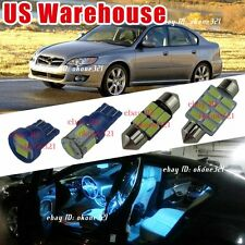 12-pc Aqua Blue LED Lights Interior Package kit for 00-09 Subaru Legacy