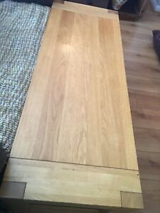 Marks And Spencer Solid Oak And Glass Coffee Table