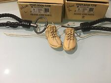 A Pair of 3D Keyring with BV leather keychain Yeezy Boost 350 V2 WHEAT