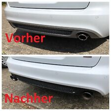 Audi A4 A5  Endrohre Edelstahl Black Chrome Auspuffblenden Schwarz Auspuff