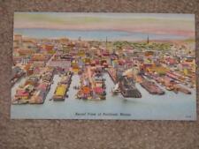 Aerial View of Portland, Maine, unused vintage card (1940`s)