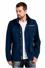 Men's TRUE RELIGION First Chase navy military hoodie jacket size XL