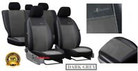 Alicante + Eco-Leather Seat Covers FORD TRANSIT CUSTOM DOUBLE CAB 2017 2018 2019