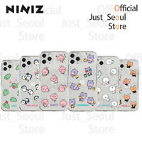 Official KAKAO Friends NINIZ Pattern Transparent Jelly Phone Case +Free Tracking
