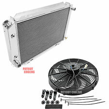"1983-1986 Ford LTD CHAMPION 3 Row Aluminum Radiator & 16"" Fan"